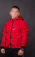 Красный мужской виндранер Nike (анорак, куртка, ветровка)