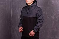 Черно-серый мужской анорак Nike President (куртка, ветровка) есть ОПТ, фото 1