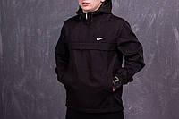 Черный мужской анорак Nike (куртка, ветровка)  есть ОПТ, фото 1