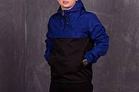 Сине-черный мужской анорак Nike (куртка, ветровка) есть ОПТ