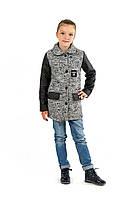 Стильное демисезонное пальто с стеанными рукавами
