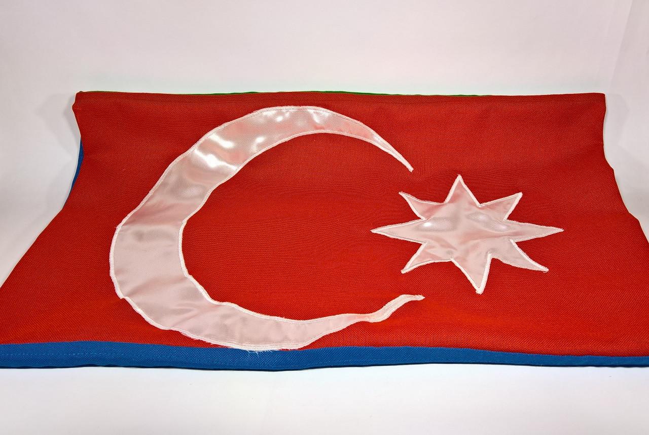 Флаг Азербайджана (Аппликация) - (1м*1.5м)