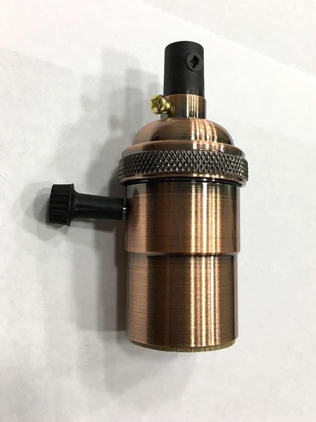AMP патрон 19 red old copper с выключателем (в сборе )
