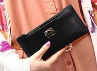 Роскошный женский  кошелек  клатч портмоне черный