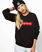 Свитшот |Supreme logo| Кофта женская