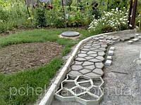 """Пластиковая форма для садовых дорожек """"Садовая дорожка"""" 40х40х4"""