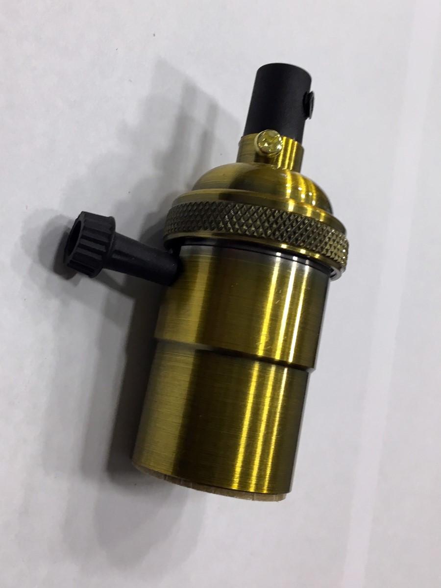 AMP патрон 19  gold old copper с выключателем (в сборе )