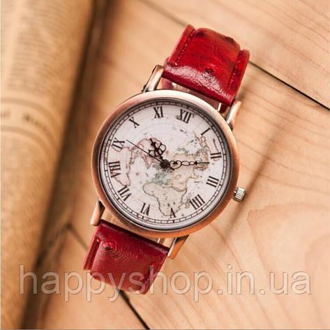 Часы мужские кварцевые Geography (красные), фото 2