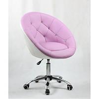 Косметическое кресло HC-8516K лавандово-белое, фото 1