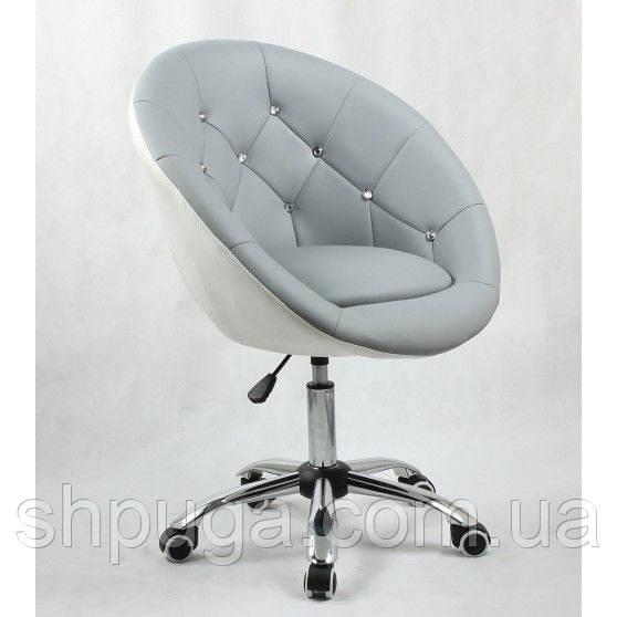 Косметическое кресло HC-8516K серо-белое
