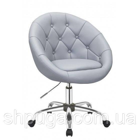 Косметическое кресло HC-8516K серое пуговицы