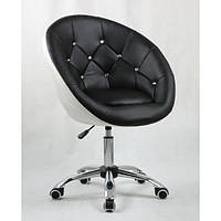 Косметическое кресло HC-8516K черно-белое, фото 1