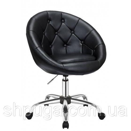 Косметическое кресло HC-8516K черное пуговицы