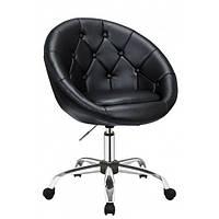 Косметическое кресло HC-8516K черное пуговицы, фото 1