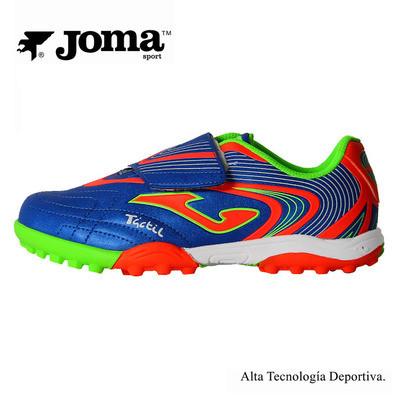 Детские сороконожки Joma TACTIL TURF TACW.504.PT (синий)