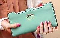 Роскошный женский  кошелек  клатч портмоне зеленый