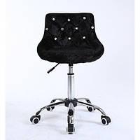 Косметическое кресло HC931K  черный велюр