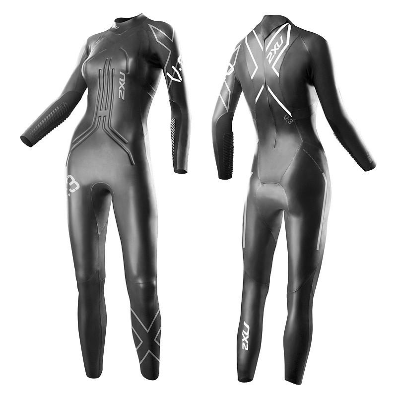 Женский гидрокостюм V:3 2XU WW3418c (чёрный / серебряный логотип)