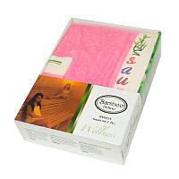 Набор для сауны женский, 2 предмета Gursan Bamboo розовый