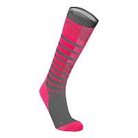 Женские компрессионные гольфы в полоску 2XU WA4008e (розовый / серый)