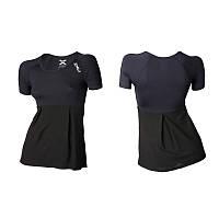 Женская компрессионная двухслойная футболка с коротким рукавом 2XU WA3017a (чёрный / чёрный)