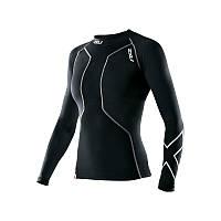 Женская компрессионная футболка с длинным рукавом для восстановления после плавания 2XU WA2005a (чёр