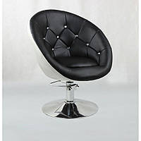 Кресло парикмахерское HC-8516H черно-белое гидравлика