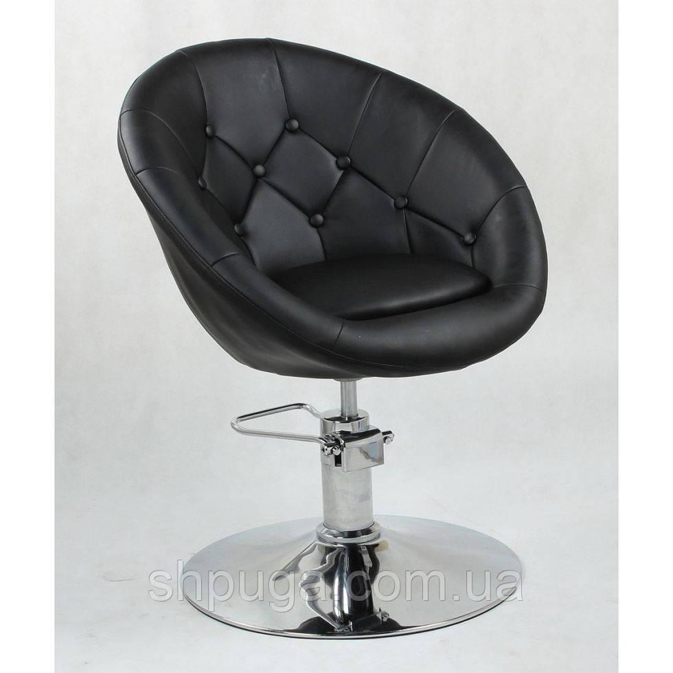 Кресло парикмахерское HC-8516H черное гидравлика