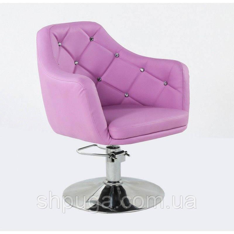 Кресло парикмахерское HC830H лавандовое ГИДРАВЛИКА
