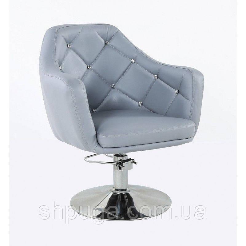 Кресло парикмахерское HC830H серое ГИДРАВЛИКА