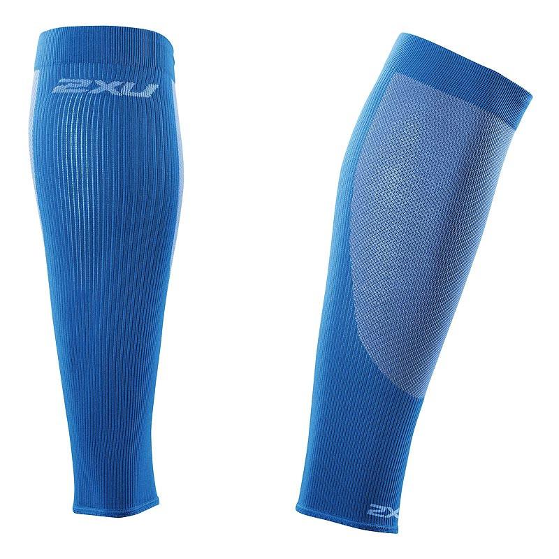 Компрессионные гетры для бега 2XU UA2762b (голубой / голубой)