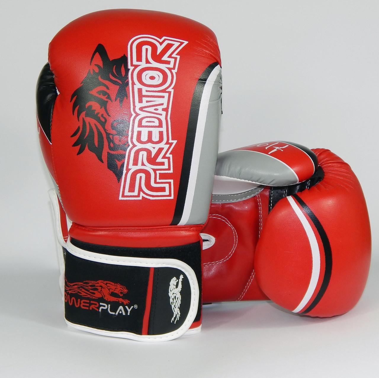 Боксерские перчатки  Wolf Predator Serits Red
