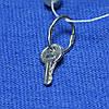 Серебряная подвеска Ключик с чернением пс 47