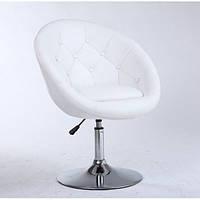 Парикмахерское кресло HC-8516 белое пуговицы, фото 1