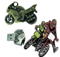 Флешка металлическая 16 Гб мотоцикл