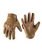 Тактические перчатки LEDER/ARAMID койот