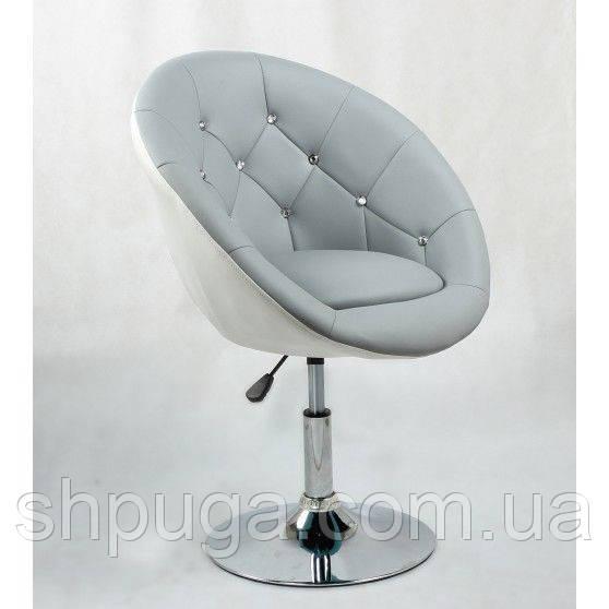 Парикмахерское кресло HC-8516 серо-белое