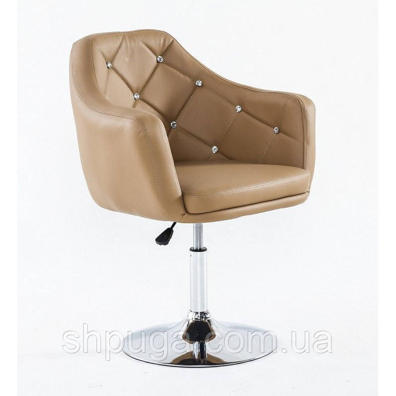 Парикмахерское кресло HC830 карамель