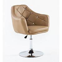 Парикмахерское кресло HC830 карамель, фото 1