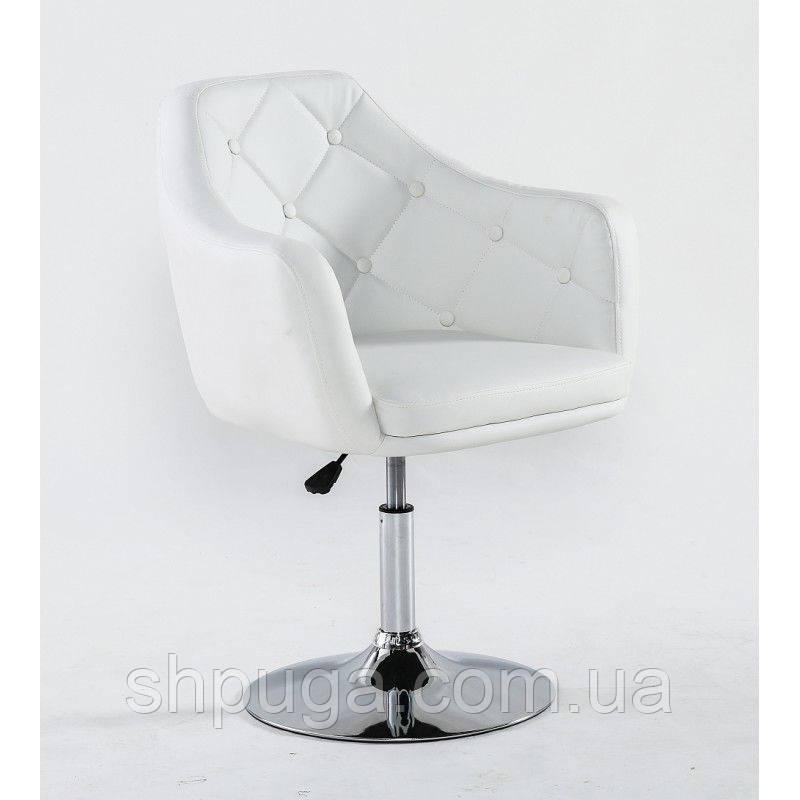 Парикмахерское кресло HC831 белое
