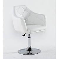 Парикмахерское кресло HC831 белое, фото 1