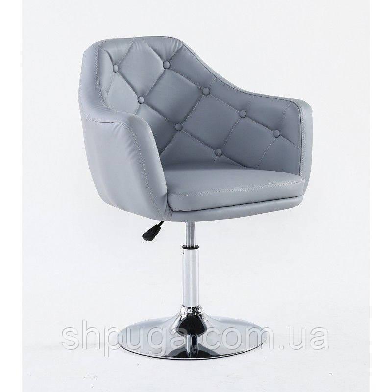 Парикмахерское кресло HC 831 серое