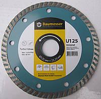 Алмазный диск для резки железобетона, бетона, гранита Baumesser Turbo 125x2,4x7x22,23 Beton, Stein, Universal Universal
