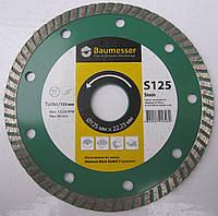Алмазный диск для резки железобетона, бетона, гранита Baumesser Turbo 125x2,4x7x22,23 Beton, Stein, Universal stein