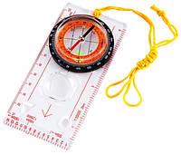 Планшетный жидкостный компас азимут TSC-45, пластик, шнурок, масштабные линейки