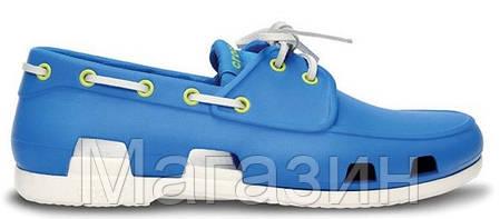 Мужские кроксы Crocs голубые, фото 2