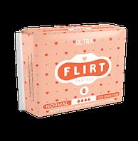 """Прокладки для критических дней """"FLIRT Ultra"""" Cotton & Care, 4, 8шт, 260мм"""