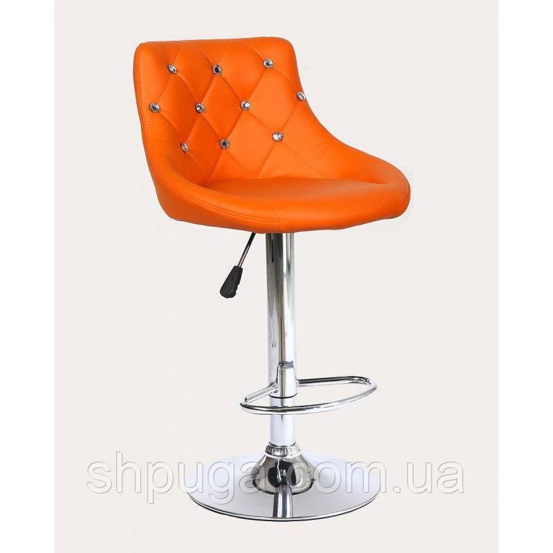 Стул барный хокер HC931W оранжевый