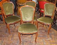 Стільці деревяні 4шт бароко