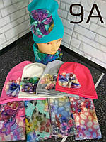 Красивая шапка с хомутом для девочки